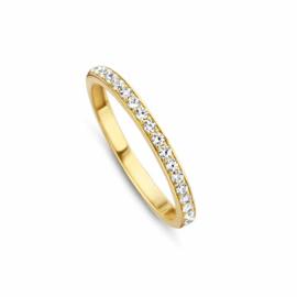 Gouden Ring van MY iMenso Gold met Kleurloze Zirkonia's
