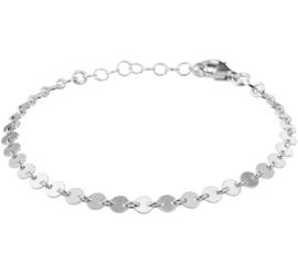 Armband met Zilveren Rondjes