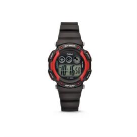 Zwart met Rood Digitaal KIDZ Horloge van Colori Junior
