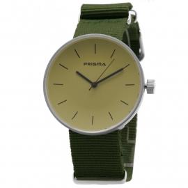 Prisma Horloge Unisex Simpel Groen/Beige Nato P.1250.32WG