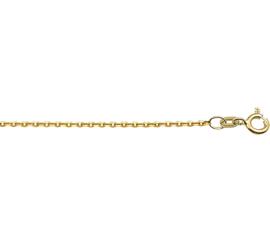 14 Karaats Gouden Collier Anker Plat 1,2 mm