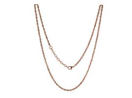 LOCKits Roségoudkleurig Edelstalen Heli Twist Collier 45cm