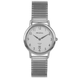 Prisma Zilverkleurig Signature Dames Horloge met Rekband