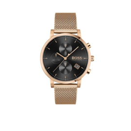 Hugo Boss Horloge Integrity Goudkleurig Horloge met Milanese Band van Boss