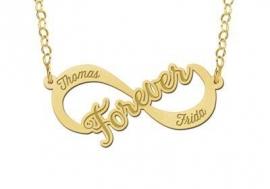 Names4ever Forever Infinity Ketting van Goud - Graveer Sieraad