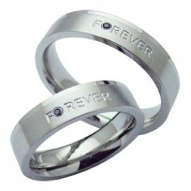 Trouw en/of relatiering | Forever + Diamant / Wit - Prijs per stuk!