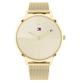 Tommy Hilfiger Dames Horloge met Goudkleurige Wijzers