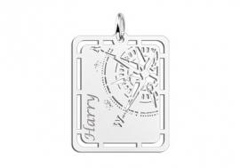 Kompas Zilveren Naamhanger Names4ever ZNH60
