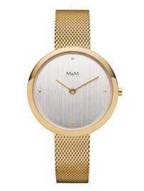 Goudkleurig Dames Horloge met Goudkleurige Milanese Horlogeband van M&M