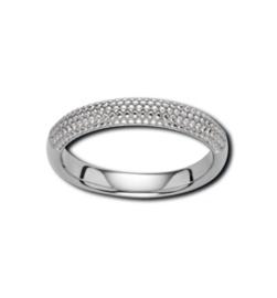 Zilverkleurige Ring met Bolletjes Voorkant van M&M