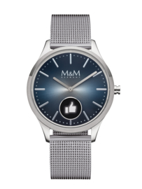 Hybrid Smart Watch met Milanese Horlogeband van M&M