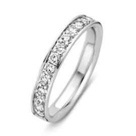 Excellent Jewelry Witgouden Ring met 0,50crt. aan Briljanten