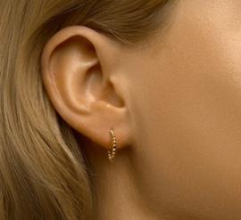 Goud Kleurige Bolletjes Stekeroorringen 13,5 mm