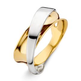 Excellent Jewelry Bicolor Abstracte Ring voor Dames