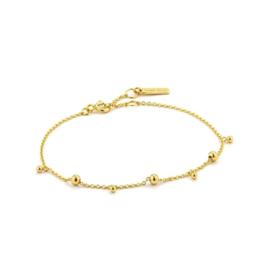 Goudkleurige Modern Drop Balls Bracelet van Ania Haie