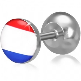 Hollandse vlag imitatie piercing oorbel SKU65281