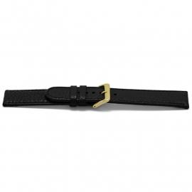 Horlogeband G113G Classic Zwart Goud 20x20 mm