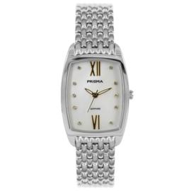 Zilverkleurig Dames Horloge met Parelmoer Wijzerplaat
