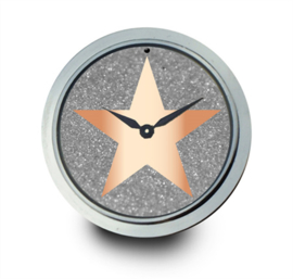 LOCKits Horloge Munt met Roségoudkleurige Ster 33mm