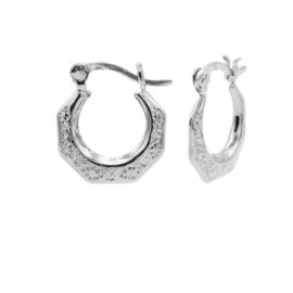Zilveren Oorringen met Structuur | Karma Jewelry