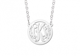 Names4ever Small Monogram Hanger + Ketting ZMH015