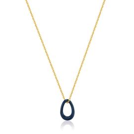Ania Haie Bright Future Goudkleurige Ketting met Blauwe Emaille Hanger