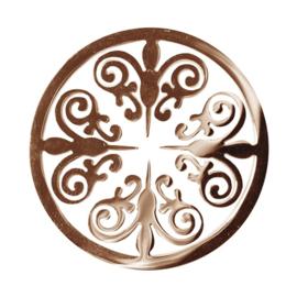 LOCKits Roségoudkleurige Ornamentele Munt van Edelstaal 33mm