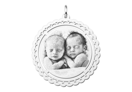 Fotogravure Hanger met Decoratieve Rand van Names4ever