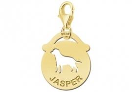Names4ever Ronde Charm-Naambedel met Hond GNDB015