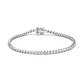 Excellent Jewelry Witgouden Armband met Ronde Briljanten Plaatjes