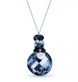 Luna Dives Zwarte Swarovski Ketting van Spark Jewelry