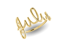 Geelgouden Naam Ring van Nomelli – 5 Tekens