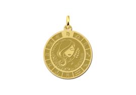 Gouden Maagd Sterrenbeeld Bedel met Naam GHS090 | Names4ever