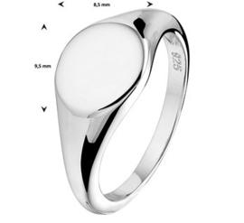 Dames Zegelring met Letter Gravure   Initial Ring