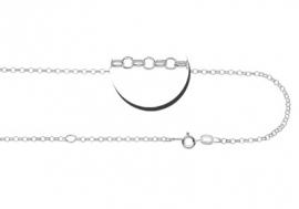 Names4ever Zilveren ketting | Lengte: 38-42cm