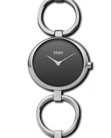 Zilverkleurig Dames Horloge met Luxueuze Open Schakelband van M&M
