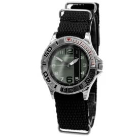Kids Horloge met Zwarte Canvas Horlogeband van Cool Watch