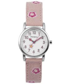 Prisma Kids Horloge met Lichtroze Denim Horlogeband