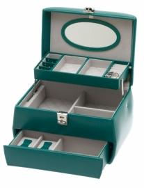 Sieradendoos DAVIDTS in turquoise leer 37827416