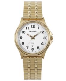 Dames Horloge van Goudkleurig Edelstaal met Witte Wijzerplaat