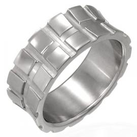 Ring met profielband-motief - Graveer Ring SKU2705
