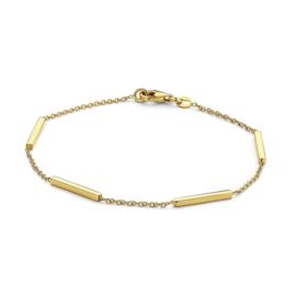 Excellent Jewelry Geelgouden Armband met Vierhoekige staafjes