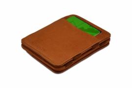 Luxe Cognac Magic Wallet RFID Portemonnee van Hunterson
