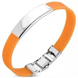 Oranje graveer armband / Armband inkorten mogelijk