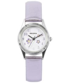 Little Flower Zachtpaars Meisjes Horloge met Metallic Horlogeband