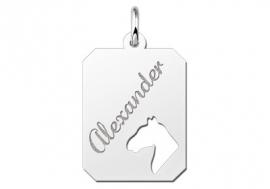 Names4ever Graveerplaatje Paardenhoofd van Zilver ZNDGP002