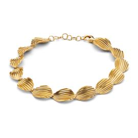 Excellent Jewelry Geelgouden Armband met Geribbelde Plaatjes