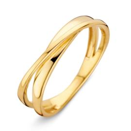 Excellent Jewelry Geelgouden Dubbele Ring voor Dames
