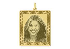 Gouden Fotogravure Hanger met Meander Rand van Names4ever