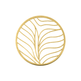 Goudkleurige Cover Munt met Vloeiende Lijnen van MY iMenso